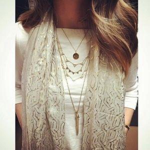 Stella & Dot metallic scarf